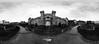 Rubens Cardia 04 (Rubens Cardia) Tags: ireland bw panorama dublin white house black castle branco coach outdoor 360 pb panoramic preto panoramica castelo irlanda degrees graus cocheira