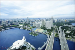 A View from the MBS Skypark (Arthur Comia) Tags: summer vacation marina landscape bay singapore cityscape sands mbs skypark marinabaysands mbsskypark