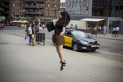 Jump (Audrey Haag) Tags: barcelona life street city girl car familia canon eos jump jumping taxi style move sagrada 600d