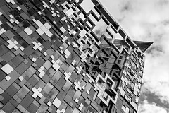 "The Cube ""You Will Be Assimilated"" (~g@ry~ (clevedon-clarks)) Tags: startrek bw abstract mono blackwhite birmingham angle architectural cube thecube resistanceisfutile youwillbeassimilated garyclark nikond800 nikkorafs1635mmf4gedvr"