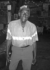 LEO Bud WELCH   ~  yep, lookin' snazzy (his DEBUT album just dropped) (Shein Die) Tags: portrait bw mississippi mono blackwhite nikon live south blues theblues clarksdale deltablues groundzerobluesclub flickraward sunflowerriverbluesfestival gzbc mississippideltablues leowelch leobudwelch