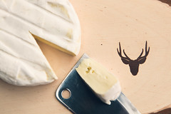 Cheese Platter (Bjorn Borgers) Tags: wood cheese knife plate deer brie plank softcheese