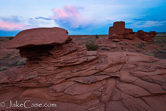 Pink Cloud over Wukoki (Jake_Case) Tags: arizona southwest desert pueblo ruin flagstaff northern wupatki