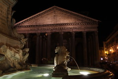 Pantheon by night (Patrice Bernard) Tags: italy rome roma fountain architecture night temple italia antique pantheon fontaine nuit romain italie antic