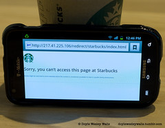 You Can't Access this Page at Starbucks (Doyle Wesley Walls) Tags: 0787 lagniappe starbucks familyenvironment samsung tmobile accessdenied censorship photograph doylewesleywalls internetsearch coffee coffeehouse unsuitable smartphone قهوة káva kaffee café caffè кофе kaffe caife