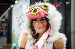 Jessica Nigri as Princess Mononoke (_Codename_) Tags: published edmonton mask expo cosplay knife alberta comicon princessmononoke 2013 jessicanigri comicentertainment