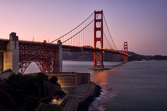 goldengate (Andrew Scott Bauer) Tags: ocean california ca travel bridge sunset color beach water canon landscape golden bay gate san francisco angle wide filter nd grad tones blinkagain flickr12days