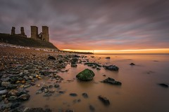 Silky smooth (James Waghorn) Tags: longexposure autumn light sunset sea england sky seaweed clouds reflections kent nikon rocks solitude alone quiet smooth sigma pebbles calm ultrawide silky lightroom nisi reculver sigma1020 reculvertowers nd1000 d7100 bestofblinkwinners blink4gallery
