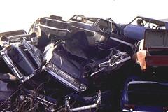 New Cross Car Recycling Site, c1979 (roger.w800) Tags: ford abandoned austin rust rusty dump mini rusted triumph recycling scrapping scrap clunker crusher abandonedcar triumphherald morris1100 austin1800 fordcortina cardump austin1100 carcrushing