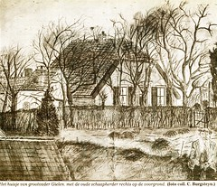 Renkum, Bergerhof. Fotocollectie Fien Bos (Historisch Genootschap Redichem) Tags: renkum tekening bergerhof fienbos knipselcollectie