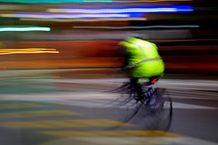 speeding towards christmas (vogon M) Tags: morning newzealand speed early moving spring colours move cycle wellington