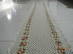 Tapete de croch com linha fial crua com barroco 2.65x56 com 74 flores no total (Cleme - Crochs & bordados) Tags: artesanato tapete cr croch trabalhosmanuais croch croches tapetecroche