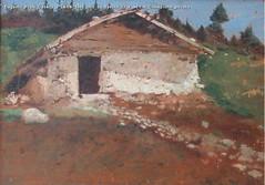 Eugenio Prati Casera a Lefre 1888 olio su tavola 33 x 44 cm Collezione privata