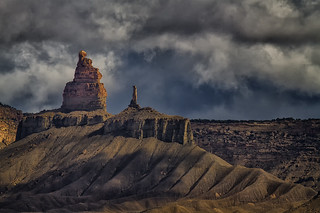 Storm over Chimney Rock Draw