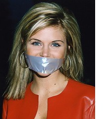 tiffani-amber thiessen tapegag (Dexter_leather81) Tags: leather fake gagged tapegag tiffaniamber