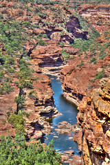 Landscape. Murchison River at the Z-bend in the Kalbarri National Park, WA. HDR