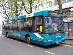 081023-114041 (Arriva Midlands North 3804-YN08HZR) (Bus Buster UK) Tags: street city birmingham centre north bull via route upper service 116 kingsbury scania midlands linx tamworth arriva livery 3804 omnilink k230ub yn08hzr