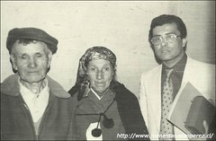 Con don José Daniel Bahamonde, conocido como Coché Molina, y su esposa Sara