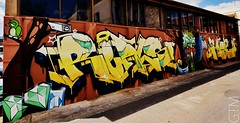 REALS & MEKS 2 (a world seen through open eyes) Tags: streetart graffiti graf urbanart artists qld laneway reals toowoomba firstcoat gtm meks awstoe