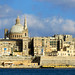 Carmelite Church and Valletta skyline, Malta