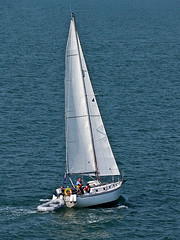"""Voluta""  in the Solent (fstop186) Tags: classic boat sailing yacht victoria panasonic crew rig captain solent portsmouth sail bermuda sailor g3 34 dinghy voluta"