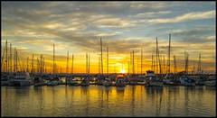 Sunset over Scarborough Marina-1=