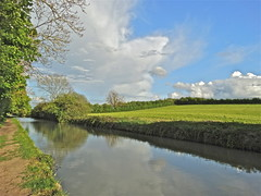 Calm Canal (Deepgreen2009) Tags: sky reflection water weather clouds canal spring may calm showers leamingtonspa midlands