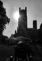 Ely Cathedral (John D McDonald) Tags: sun building tower church silhouette architecture cathedral market cannon ely fens cambridgeshire anglican contrejour eastanglia elycathedral againstthesun churchofengland fenlands normancathedral normanarchitecture englishcathedral shipofthefens