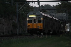 K92 - Meadowbank (james.sanders2) Tags: k electric set evening early chopper shadows main north under sydney trains double line wires short nsw area cutting northern metropolitan cityrail decker meadowbank k92