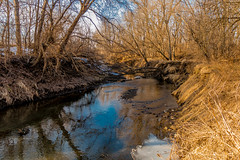 Up the Lazy Creek??? (114berg) Tags: canal illinois warm skies sunny trail temps hennepin geneseo 24january15