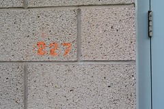 227 (Man with Red Eyes) Tags: leica test orange brick sign wall digital stencil number m8 lancaster 227 leicam8 incamerajpeg autoiso zeissbiogon35mmf20 biogont235