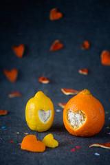 02/2015 Heart stories/Love (bess_bg) Tags: blue stilllife orange love lemon heart m42 stillife manualfocus helios442