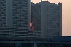 Sunset in Paris 13 (mahtieuc) Tags: sunset sun paris france soleil ledefrance fr paris13