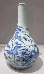 Blue & white Korean porcelain bottle with symbols of good fortune (Monceau) Tags: bottle korean symbols goodluck blueandwhite goodfortune