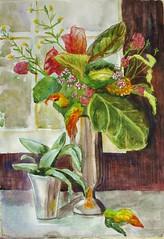 Flowers Bouquet (IrinaIrina) Tags: watercolor sticks mixed flora media pastel neocolor