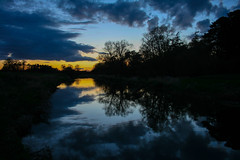 On the edge between Day and Night (Costigano) Tags: ireland sunset sky irish sun sunlight water clouds canon reflections landscape eos sundown dusk carton kildare