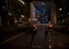 G Street (Blinkofanaye) Tags: blue light usa night truck washingtondc ramp nw handheld delivery gstreet