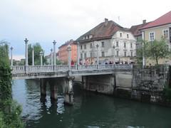 Cobbler's Bridge, Ljubljana, Slovenia (Paul McClure DC) Tags: architecture river scenery historic slovenia ljubljana slovenija ljubljanica may2016