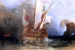 IMG_8134C Joseph Mallord William Turner. 1775-1851. Ulysses deriding Polyphemus - Homer's Odyssey. Ulysse raillant Polyphme - l'Odysse d'Homre. 1829.   Londres National Gallery. (jean louis mazieres) Tags: greatbritain london museum painting unitedkingdom muse nationalgallery londres museo peintures peintres grandebretagne josephmallordwilliamturner