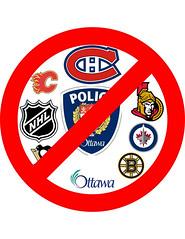 No Hockey Logos (arlenomalley) Tags: bostonbruins calgaryflames nosign montrealcanadiens ottawasenators winnipegjets pittsburgpenguins nhllogo hockeylogos cityofottawapolice nohockeylogos