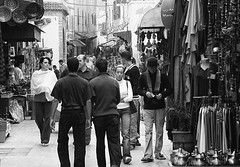 Moroccan Market at Essaouira (Rico Shay) Tags: people tourism monochrome market busy morocco trading souk selling essaouira