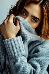 Watch out! (David Pinzer) Tags: portrait people girl beauty face mask secret sensual hide mysterious emotive
