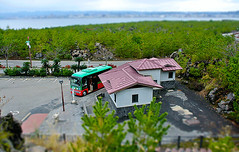 tilt shift bus (gwilli) Tags: animated gif wiggly japan japan2014 sakurajima