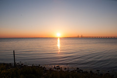 Sunset Travel (HavardKleppe) Tags: bridge sunset beach denmark sweden traveling