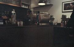 F828 (hronirheila) Tags: nyc ny newyork coffee 35mm cafe nikon fuji grain natura fujifilm grainy nikonf70 thirdrail fujinatura1600 fujinatura thirdrailcoffee epsonperfectionv550