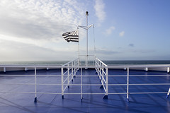 Over the bow (sequentialogic) Tags: ship flag bow brittanyferries gwennhadu mvbretagne