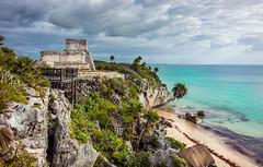 Tulum (pietkagab) Tags: trip travel sea mexico temple photography coast ruins maya pentax sightseeing yucatan tulum adventure pentaxk5ii pietkagab piotrgaborek