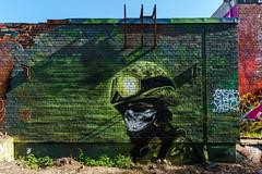 Teufelsberg - Graffiti (Matthias Hertwig) Tags: berlin graffiti kunst sony matthias grn soldat mauer verlassen nsa teufelsberg a6000 hertwig