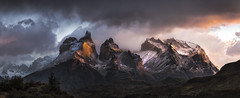 Cast No Shadow (Tim Poulton) Tags: chile patagonia sunrise landscape panoramic torresdelpaine