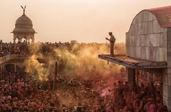 Mayhem (Padmanabhan Rangarajan) Tags: brindavan mathura holi lathmar india religion